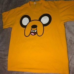 Jake The Dog Adventure Time Orange Shirt